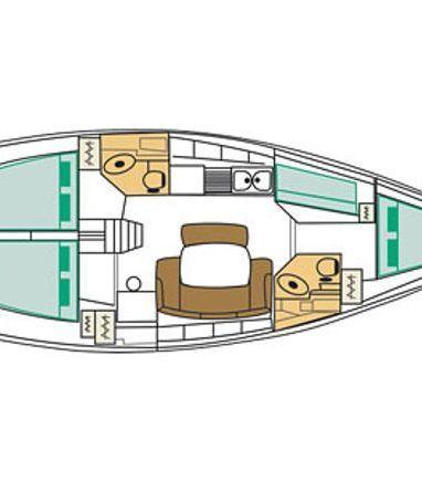 Sailboat Beneteau Cyclades 43.4 · 2008 (3)
