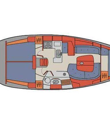 Sailboat Beneteau Oceanis 361 · 2002 (3)