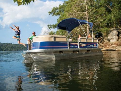 Barco a motor Sun Tracker Party Barge 22 DLX · 2018
