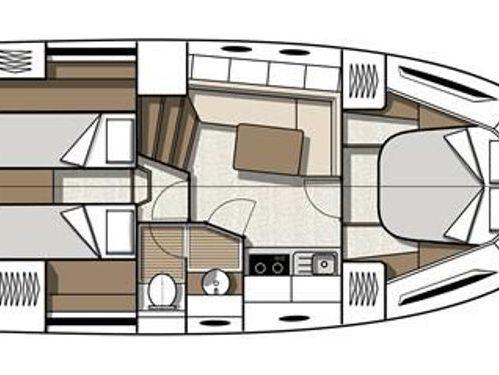Motorboot Beneteau Gran Turismo 38 · 2014