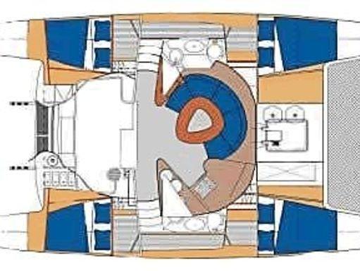 Katamaran Fountaine Pajot Athena 38 · 2002 (2)
