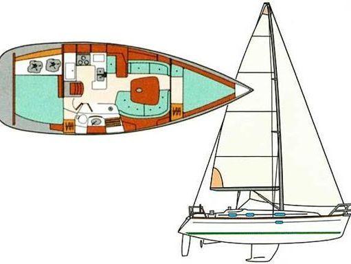 Sailboat Beneteau Oceanis 361 · 2001 (2)