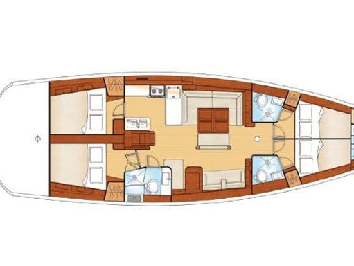 Sailboat Beneteau Oceanis 54 · 2012 (2)