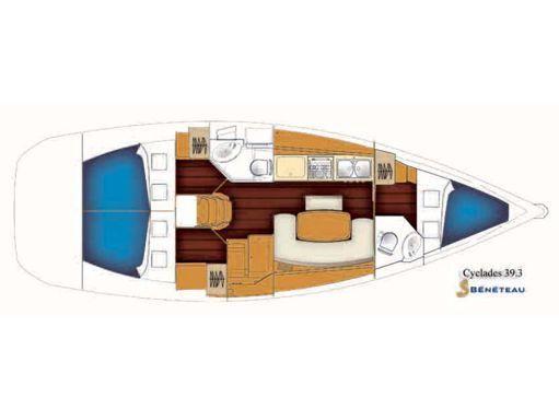 Velero Beneteau Cyclades 39.3 · 2007 (reacondicionamiento 2017) (2)