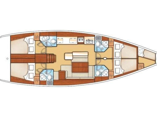 Segelboot Beneteau Oceanis 50 Family (2012) (4)