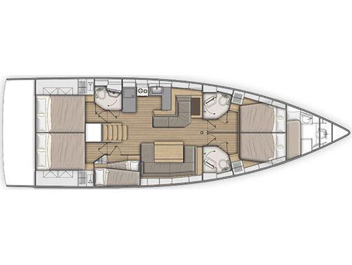 Sailboat Beneteau Sunsail 51.1 · 2019 (2)
