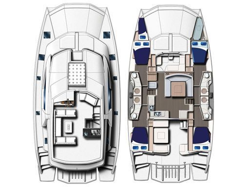 Motor Catamaran Leopard Moorings 514 · 2019 (2)