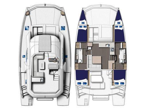 Catamarano a motore Leopard Moorings 434 · 2019 (2)