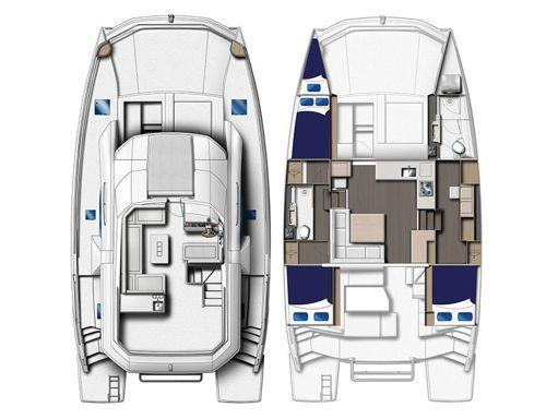 Motor Catamaran Leopard Moorings 433 · 2017 (2)